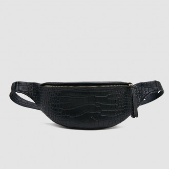 Lubo croc embossed waist bag