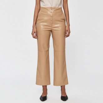 Sora vegan leather straight leg pant