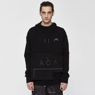 Velcro patch pullover hoodie