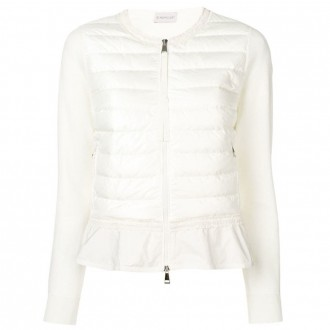 Quilted jacket with ruffle