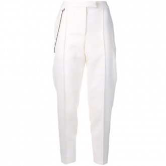Chain cropped trousers
