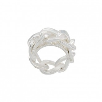 Silver chain ring