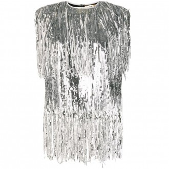 Sequin fringed top