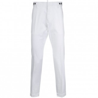 Button waistband chinos