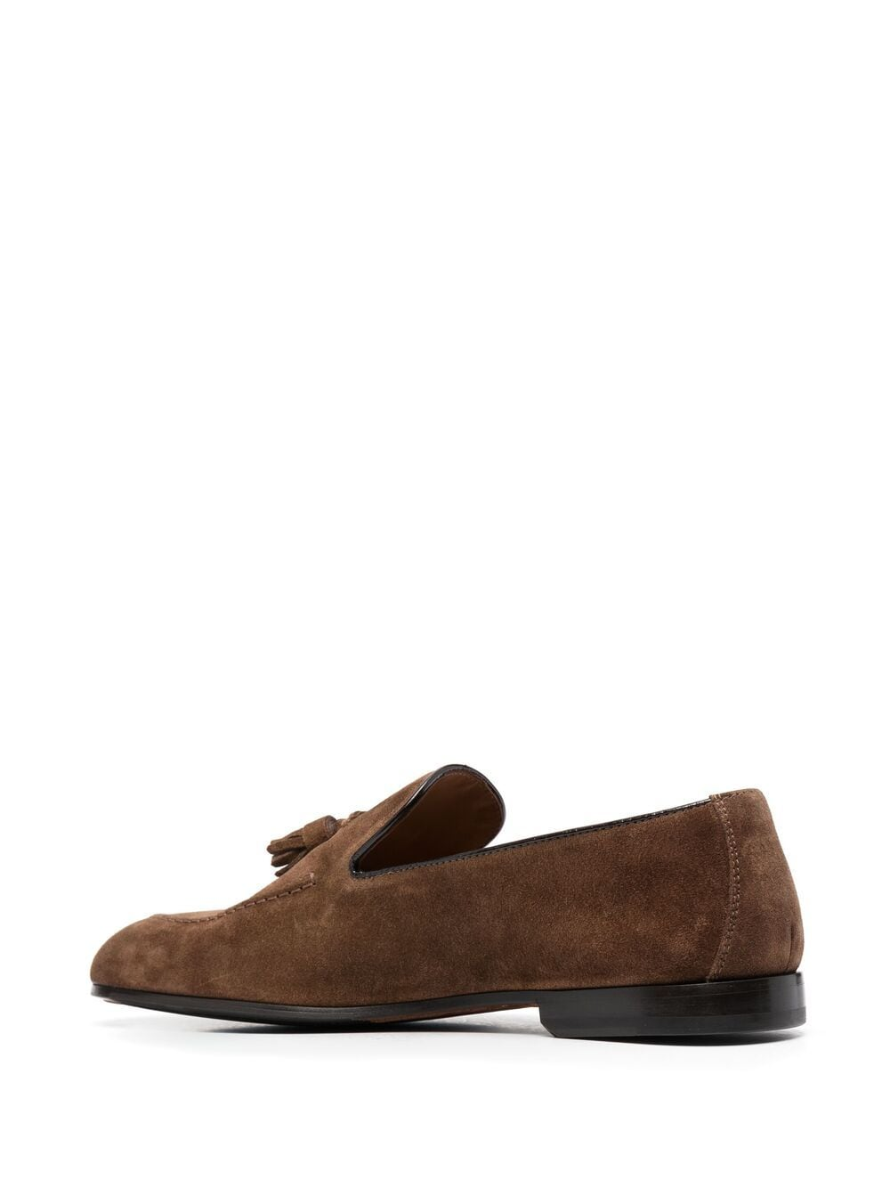 DOUCAL'S Man Loafer With Tassels In Brown Suede