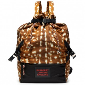 Animal-print backpack