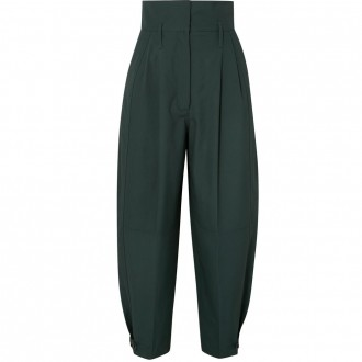 Pleated tapered pants