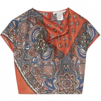 Cropped printed top