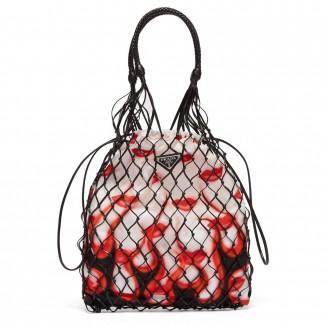 Lipstick-print bag