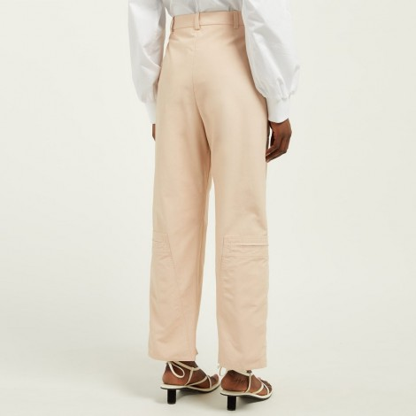 Zip-front trousers
