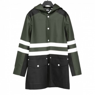 GREEN AND BLACK STUTTERHEIM RAINCOAT