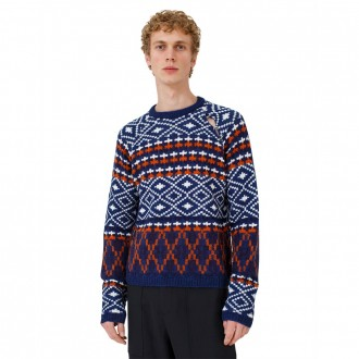 Jacquard Sweater with Detachable Sleeve