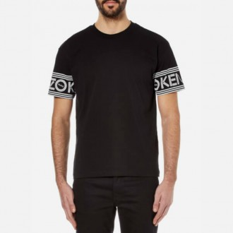 Men's Sleeve Logo T-Shirt - Black