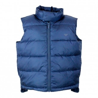 Sleeveless Jacket In Blue Feather
