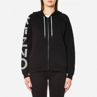 Women's Light Brushed Molleton Hoody - Black