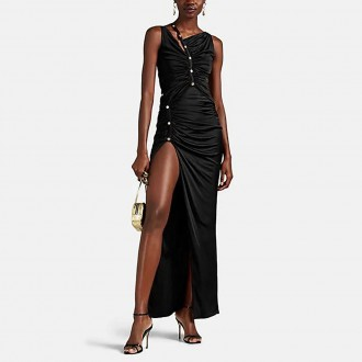 Ruched fluid jersey Gown