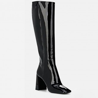 Patent Leather Knee Boots