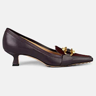 Leather And Calf Hair Pumps