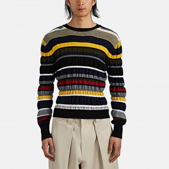 Striped Ruched Sweater