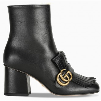 Double G Leather Ankle Boots
