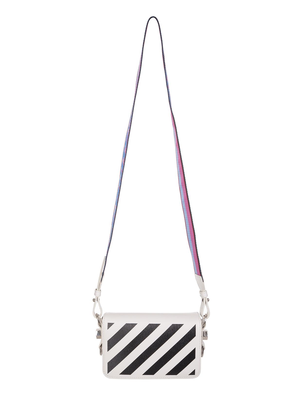OFF-WHITE White Diag Mini Shoulder Bag