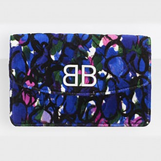 BB On Chain Wallet  In Quilted Velvet