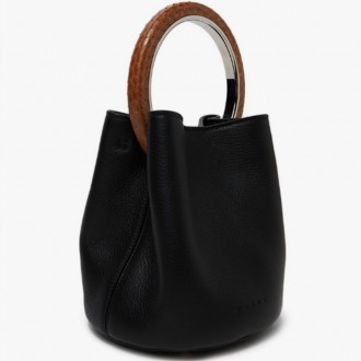 Shoulder Bag in Black/Nougat/Hazelnut