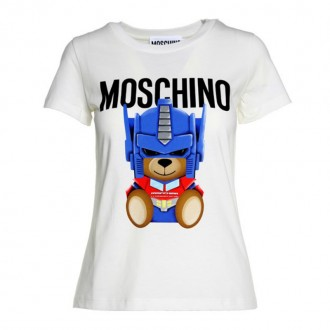T-shirt Moschino Transformer in jersey di cotone