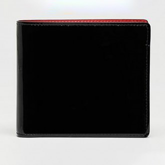 Wallet In Brushed Patent Leather