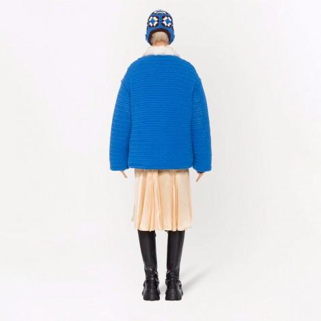 Crochet-Knit Wool Jacket