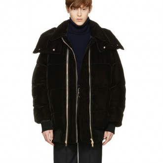 Black Velvet Short Puffer Jacket