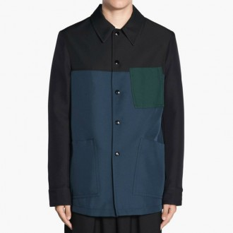 Petrol Black Blue Jacket
