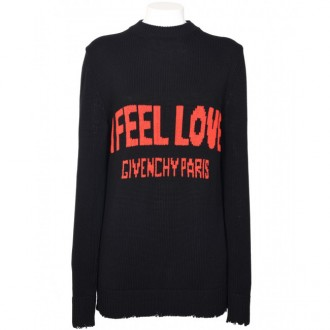I Feel Love Sweater Black/Red