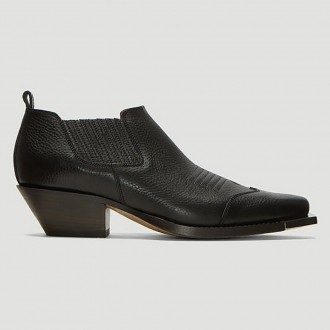 Cowboy Ankle Boots In Black