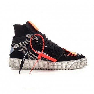 Off-Court High-Top Sneaker In Zebra Leather