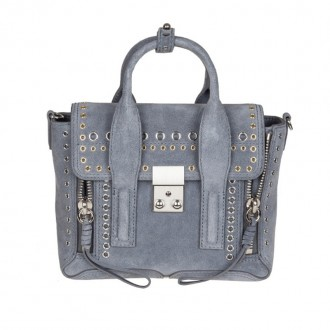 PASHILI MINI SATCHEL IN SUEDE WITH STUDS
