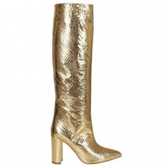 Gold Metallic Leather Boot