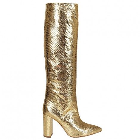 Gold Metallic Leather Boot