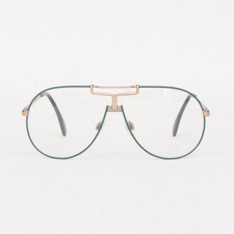 VINTAGE OPTICAL 25 GREEN/SLIVER OS