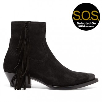 Lukas Fringed Suede Boots