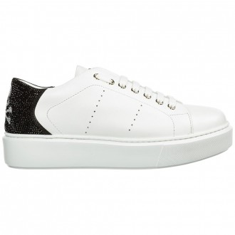 Women's Sneakers Shoes In Skull Leather