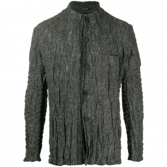Blend Creased Knit Cardigan