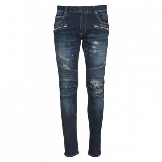 Slim Fit Ripped Cotten Jeans