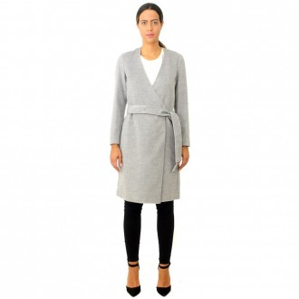 U&B Gray Wool Blend Coat