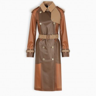 Trench Coat With Leather Details