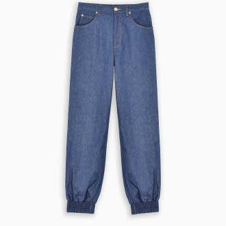 Gathered Ankle Jeans