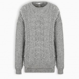 Grey Cable Knit
