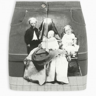 Victorian Portrait Mini Skirt