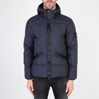 Down Jacket Garment Dyed Crinkle Reps Ny Down Blue