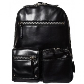 Leather Black Packpack